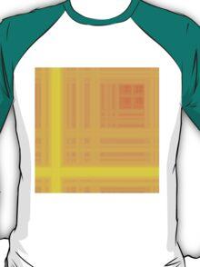 Orange-Yellow Plaid T-Shirt