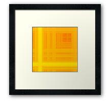 Orange-Yellow Plaid Framed Print