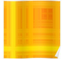 Orange-Yellow Plaid Poster