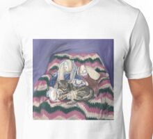 Stripes and His Bunny Friends  Unisex T-Shirt