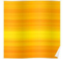 Orange-Yellow Stripes Poster