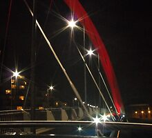 Squinty Bridge at night, Glasgow by ElsT