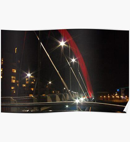 Squinty Bridge at night, Glasgow Poster
