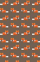 Pixel Foxes Pattern by InvalidDomain