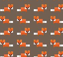 Pixel Foxes Pattern by InvalidDomain