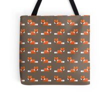 Pixel Foxes Pattern Tote Bag