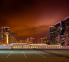 Sky 100 and Harbour City Hong Kong by Delfino