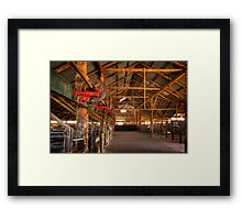 The inside - Woolshed Lake Mungo Framed Print