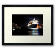 Queen Mary 2 - Garden Island Framed Print
