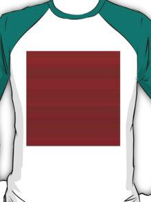 Deep Cherry Stripes T-Shirt