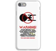 SMALL TREKKY WARNING iPhone Case/Skin