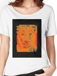 lion face Women's Relaxed Fit T-Shirt