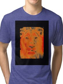 lion face Tri-blend T-Shirt
