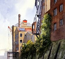 The Old Docks Rotherhithe London by bill holkham