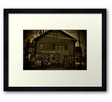 Cook's Variety Store Framed Print