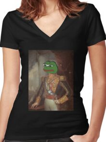 Royalty Face Swap - personalize with any picture of your choice! Women's Fitted V-Neck T-Shirt