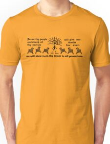 PSALMS 79:13 CAVE ART Unisex T-Shirt