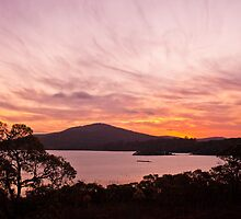Sunset over the Inlet by pennyswork