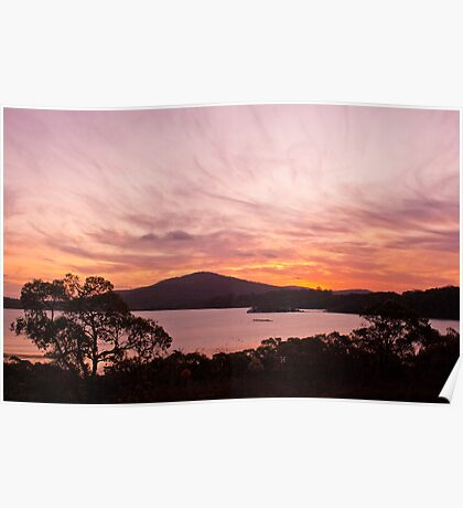 Sunset over the Inlet Poster