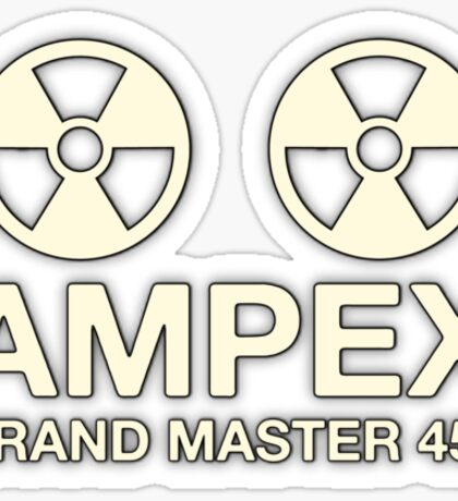 Ampex Grand Master Tape Sticker