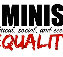 Feminism is Equality by theeella