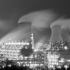 Grangemouth Refinery at night by Michael Hunter