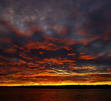Waves of orange by Dave Parrish