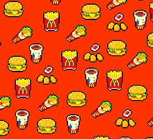 McDonald's Pixel Art Pattern by InvalidDomain