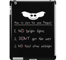 Guide to Mogwai Care iPad Case/Skin
