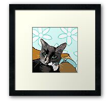 Baby is Black and White Framed Print