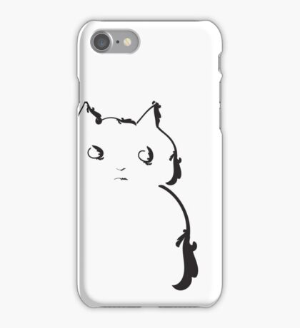 This cat doesn't trust anybody iPhone Case/Skin