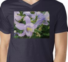 Light Lavender Flowers Mens V-Neck T-Shirt