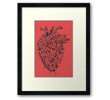Wooden Tree Heart Design  Framed Print