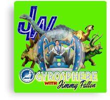 JW Gyrosphere w Jimmy + dilopho spit Canvas Print