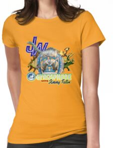 JW Gyrosphere w Jimmy + dilopho spit Womens Fitted T-Shirt