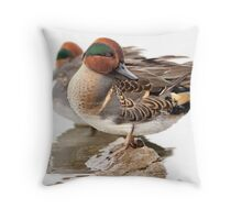 Teal Tranquility in High Key Throw Pillow
