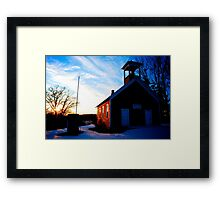 Old Red Schoolhouse Framed Print