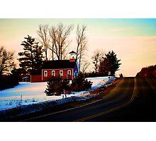 Schoolhouse Drive Photographic Print