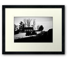 Schoolhouse Drive Framed Print