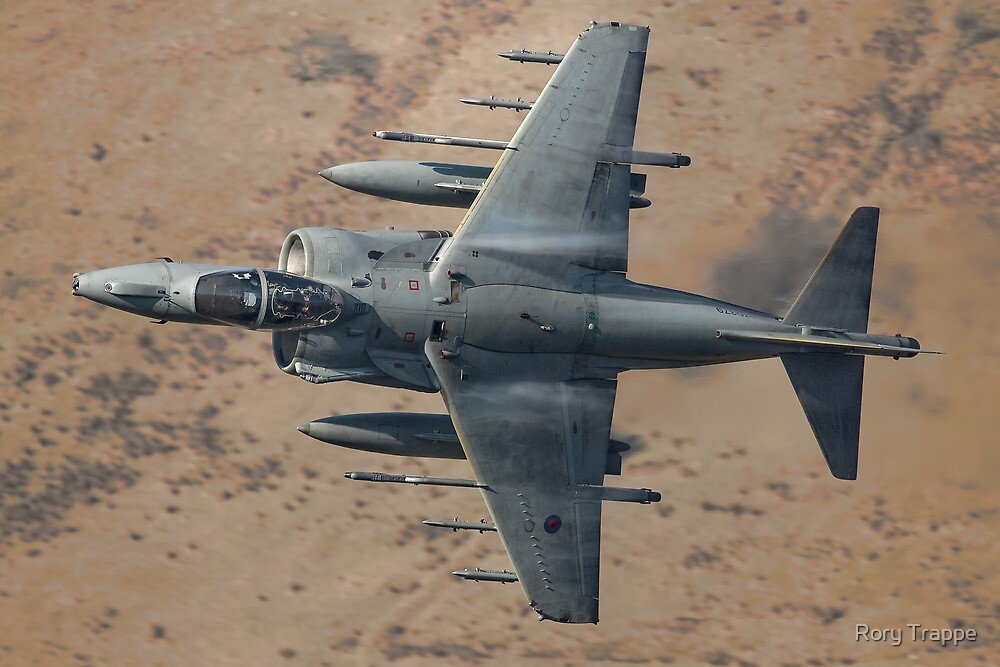 RAF Harrier flying over North Wales by Rory Trappe