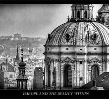 Old Town Prague in B&W by capturedjourney