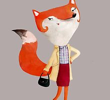 Classy Mod Fox Girl by colonelle