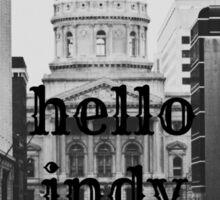 Hello Indy Sticker