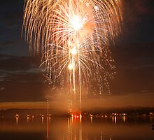 Fireworks at Twin Lake by Jim Nielsen