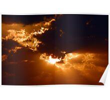 Hidden sun over Seven Mile Beach, Grand Cayman, Caribbean Poster