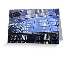 Steel Window Reflections Greeting Card