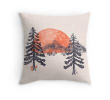 First Snow... Throw Pillow