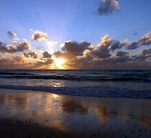 Reflected sunset, Seven Mile Beach, Grand Cayman, Caribbean by Geetha Alagirisamy