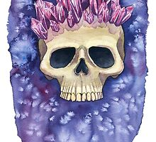Amethyst Crowned Skull by TheresaLammon