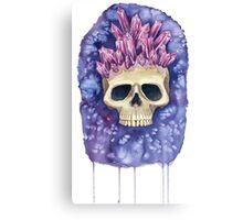 Amethyst Crowned Skull Canvas Print